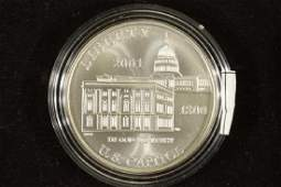 2001P US CAPITOL COMMEMORATIVE SILVER DOLLAR UNC