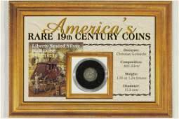 1847 SEATED LIBERTY HALF DIME ON CARD
