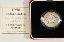 1996 UNITED KINGDOM SILVER PROOF PIEDFORT 2