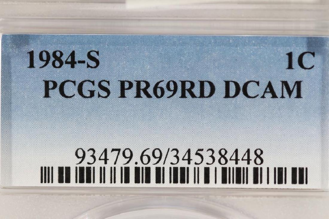 1984-S LINCOLN CENT PCGS PR69RD DCAM - 3