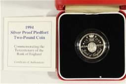 1994 UNITED KINGDOM SILVER PROOF PIEDFORT 2 POUND