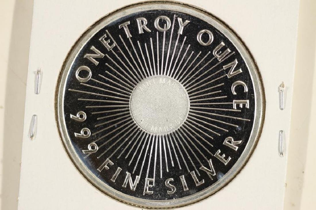 1 TROY OZ .999 FINE SILVER PROOF ROUND SUNSHINE - 2