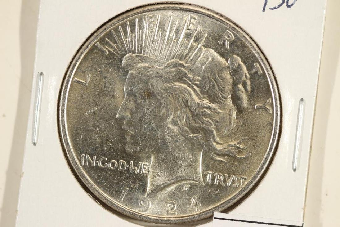 1924 PEACE SILVER DOLLAR BRILLIANT UNC