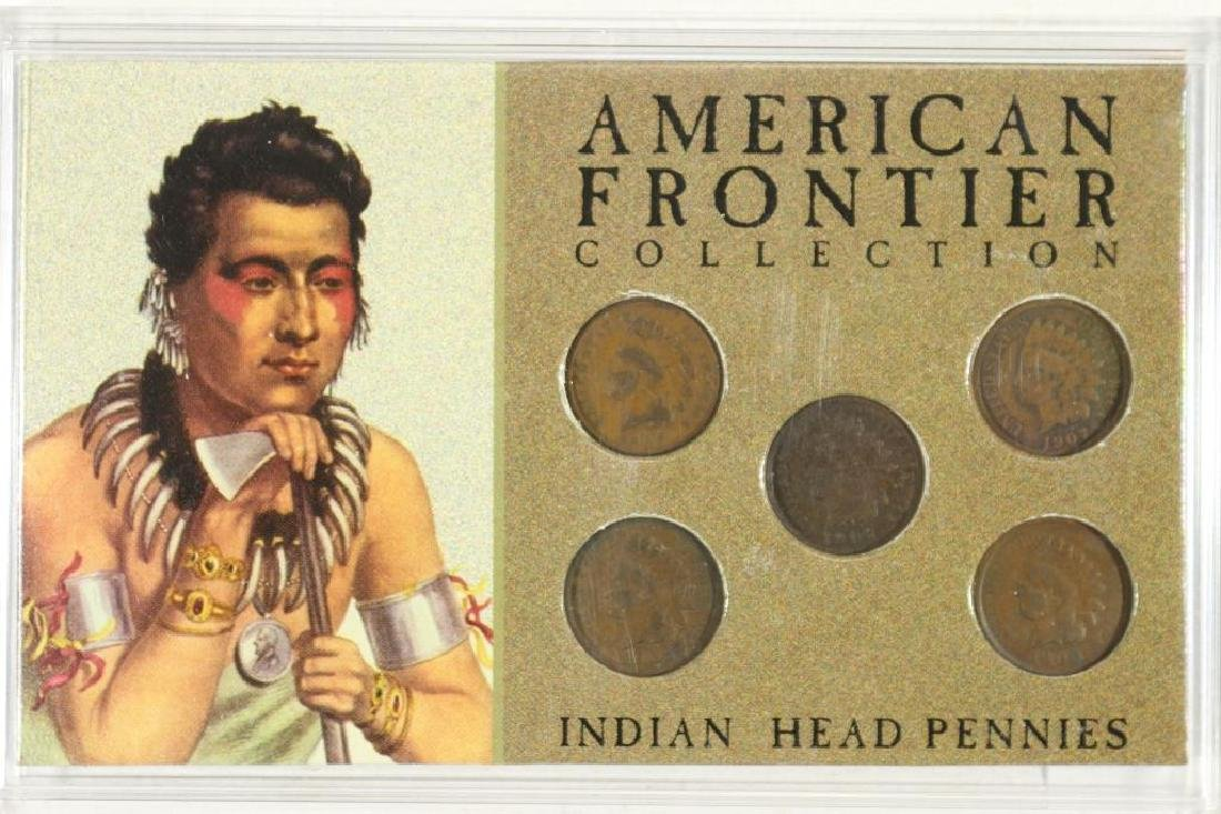AMERICAN FRONTIER COLLECTION 5 INDIAN HEAD CENTS