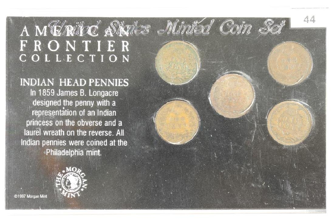 AMERICAN FRONTIER COLLECTION 5 INDIAN HEAD CENTS - 2