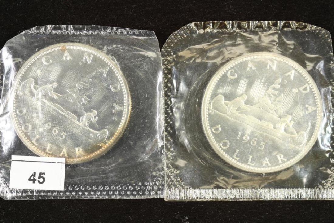 2-1965 CANADA SILVER DOLLARS BU