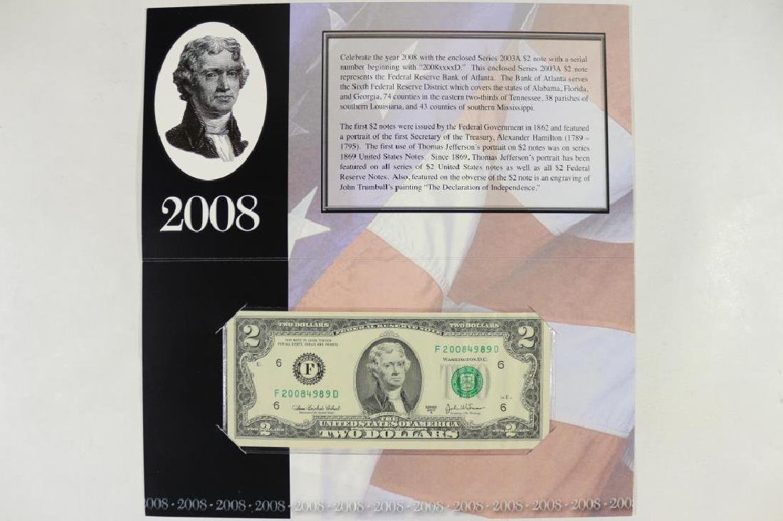 2003-A ATLANTA $2 SINGLE NOTE SERIAL # STARTS 2008