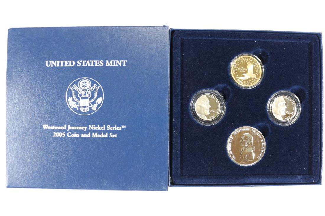 2005 WESTWARD JOURNEY NICKEL SERIES COIN & MEDAL - 2