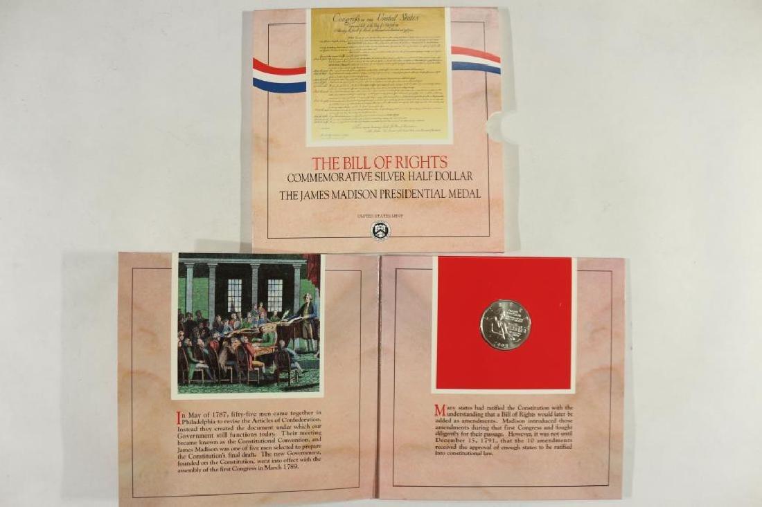 1993-W BILL OF RIGHTS COMMEMORATIVE SILVER - 2