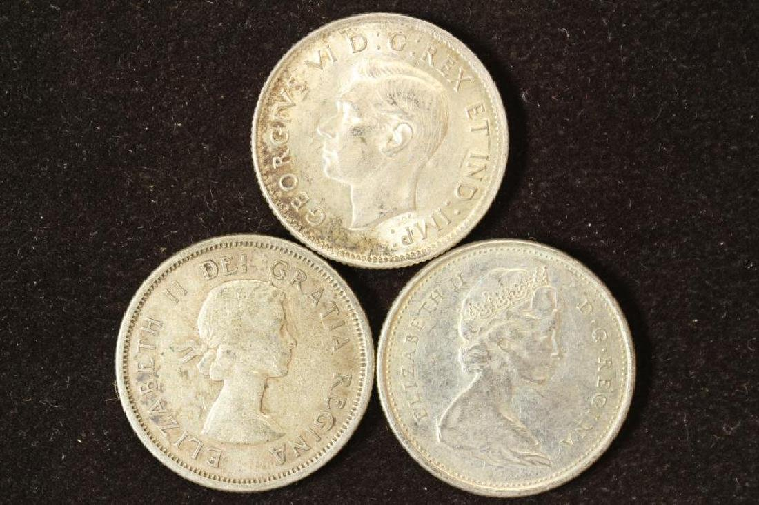 1937,1962 & 1968 CANADA SILVER 25 CENTS - 2