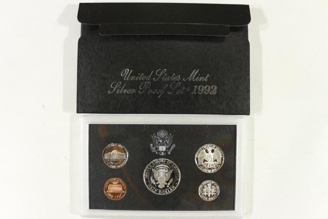 1992 US SILVER PROOF SET (WITH BOX) - 2
