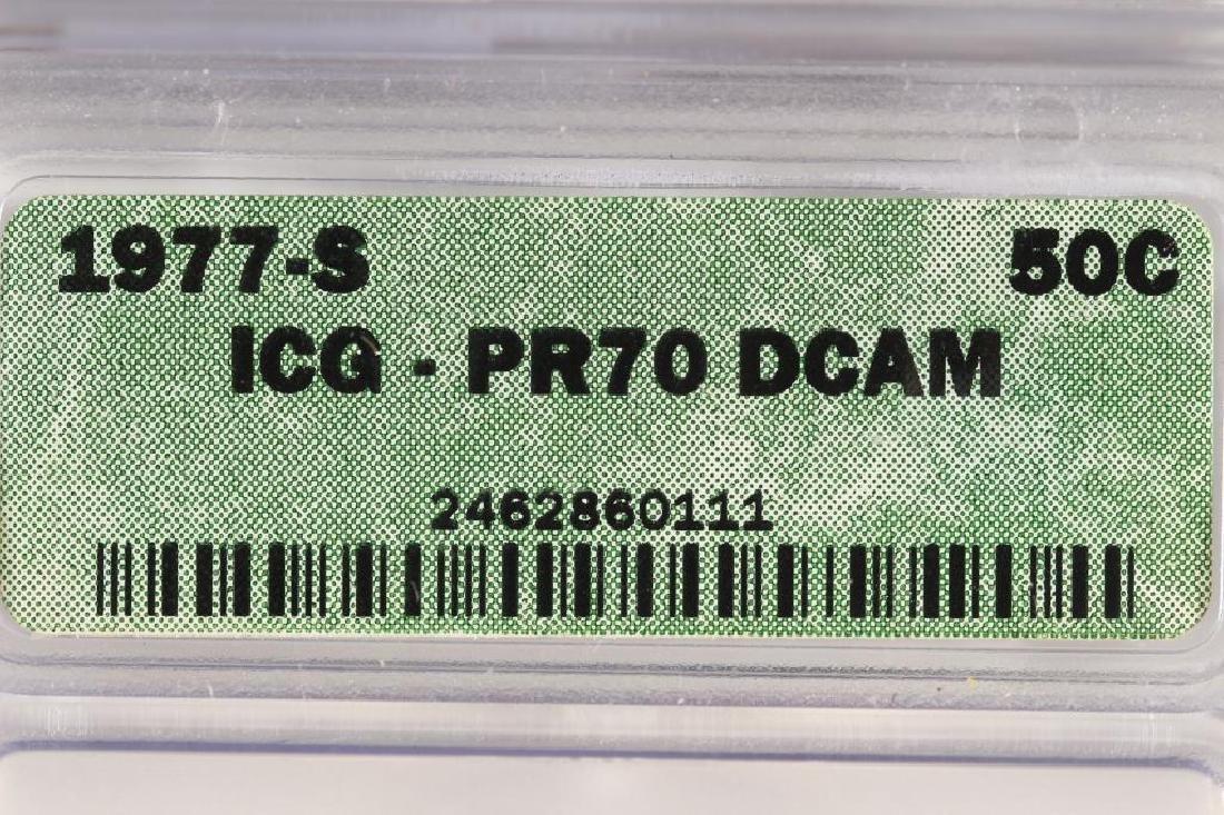 1977-S KENNEDY HALF DOLLAR ICG PR70 DCAM - 3