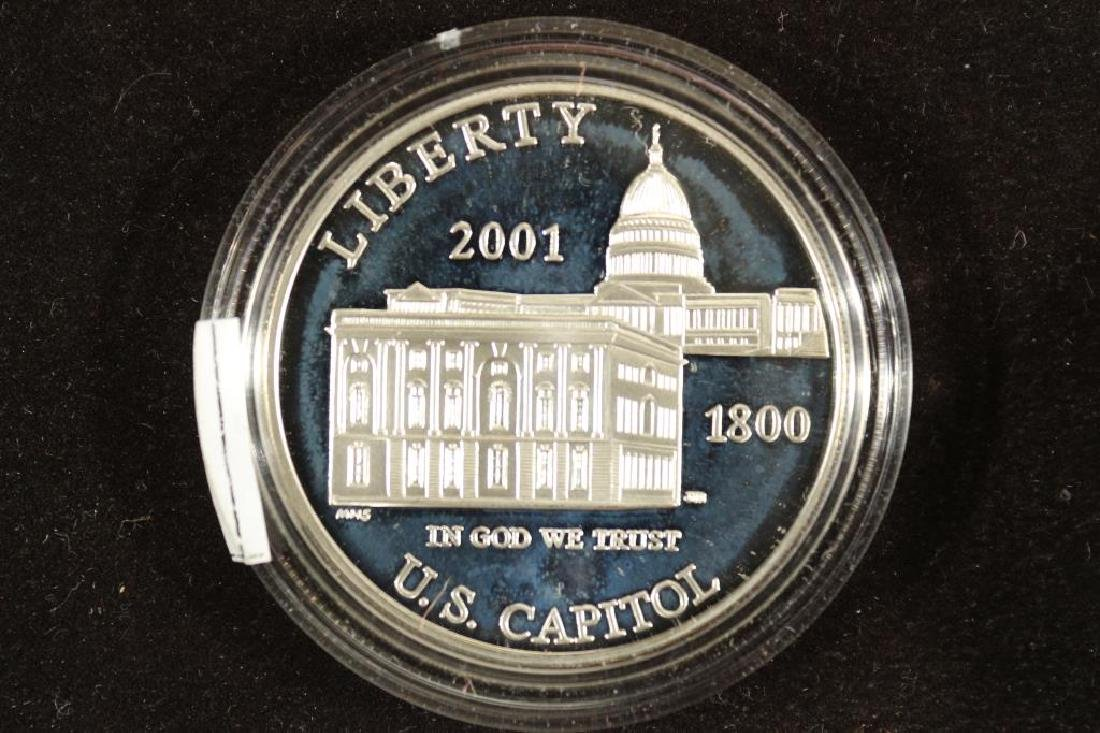 2001-P US CAPITOL PROOF SILVER DOLLAR