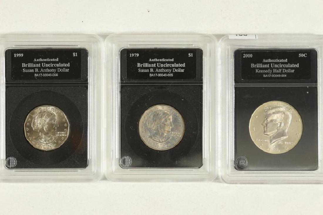 3 SLABBED COINS SEE DESCRIPTION