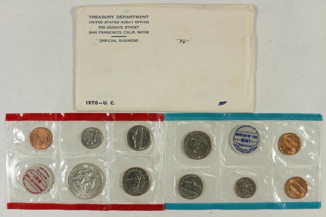 1970 US MINT SET (UNC) P/D/S (WITH ENVELOPE) - 2
