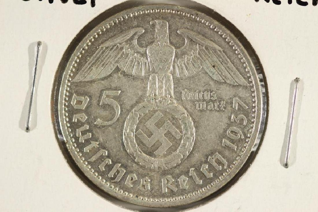 1937-A GERMAN SILVER 5 MARKS