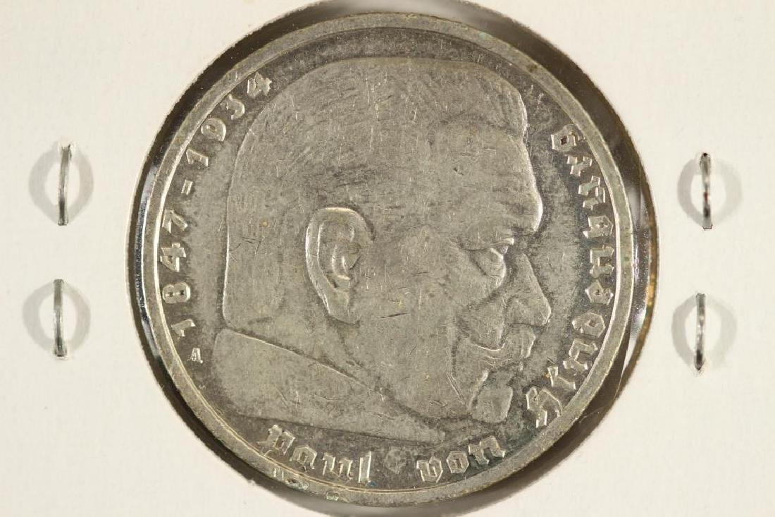 1937-A GERMAN SILVER 5 MARKS - 2