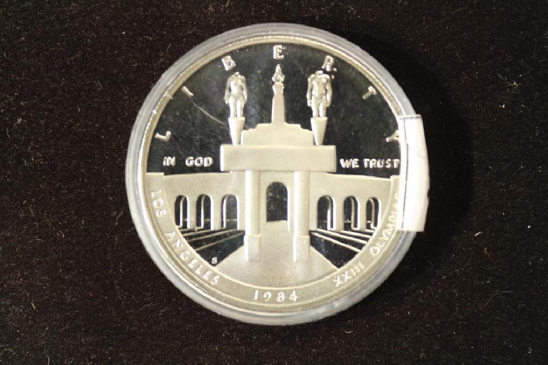 1984-S US OLYMPICS PROOF SILVER DOLLAR - 2