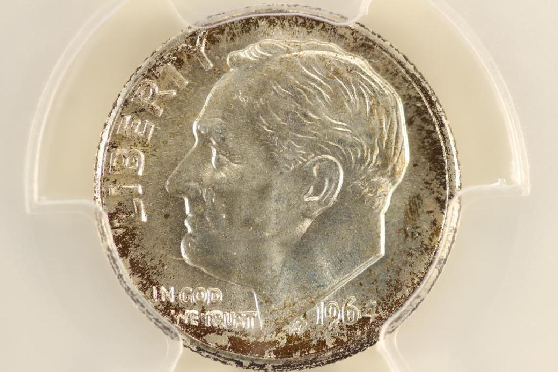 1964-D SILVER ROOSEVELT DIME PCGS MS65