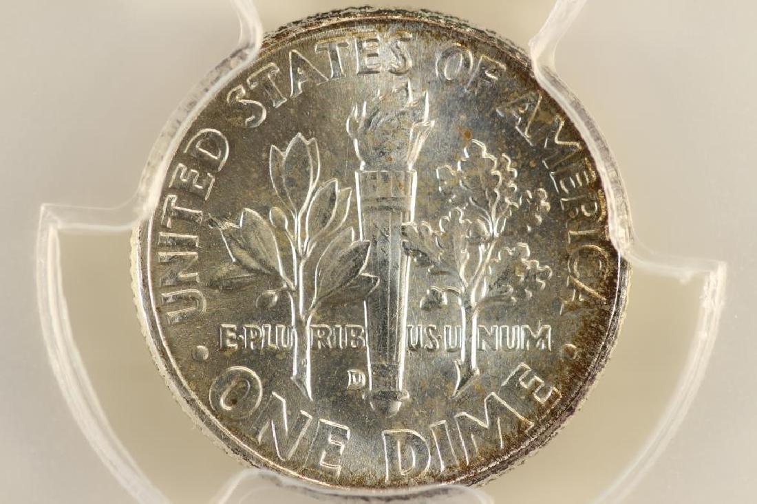 1964-D SILVER ROOSEVELT DIME PCGS MS65 - 2
