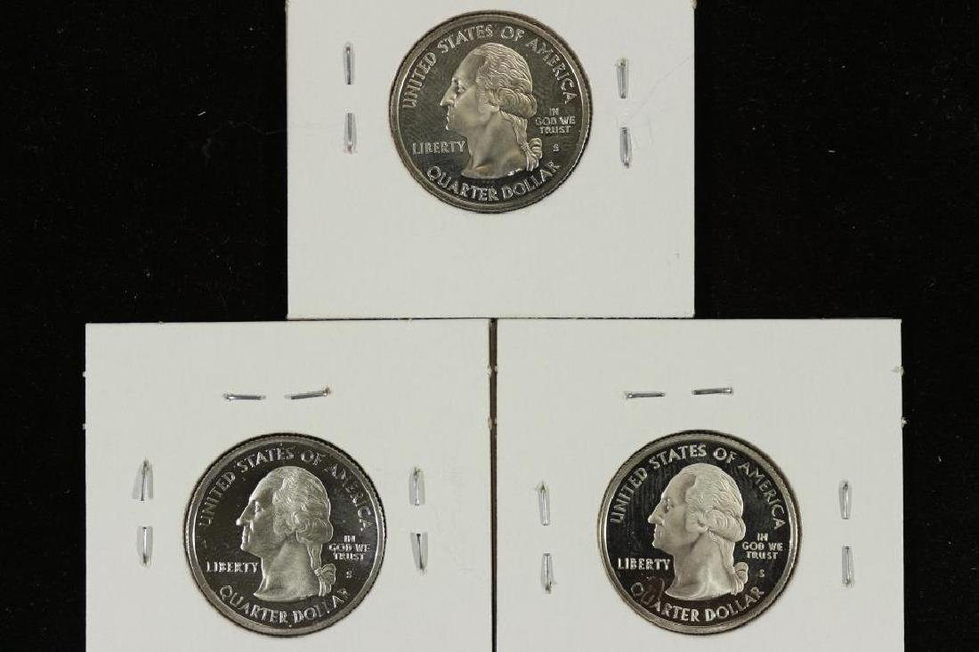 3-SILVER PROOF 50 STATE QUARTERS 2000-S VIRGINIA - 2