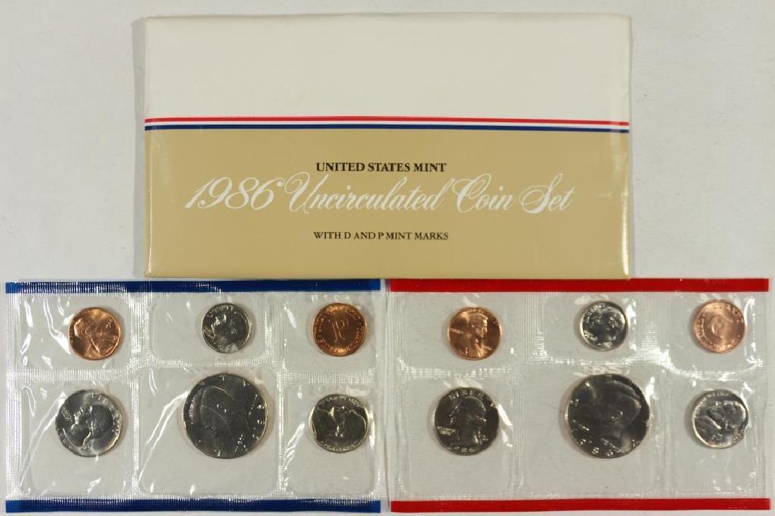 1986 US MINT SET (UNC) P/D (WITH ENVELOPE)
