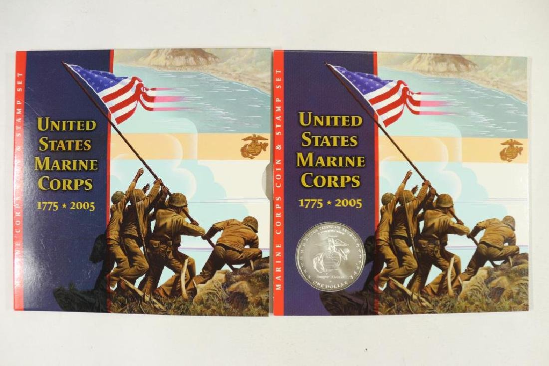 2005 US MARINE CORPS COIN & STAMP SET