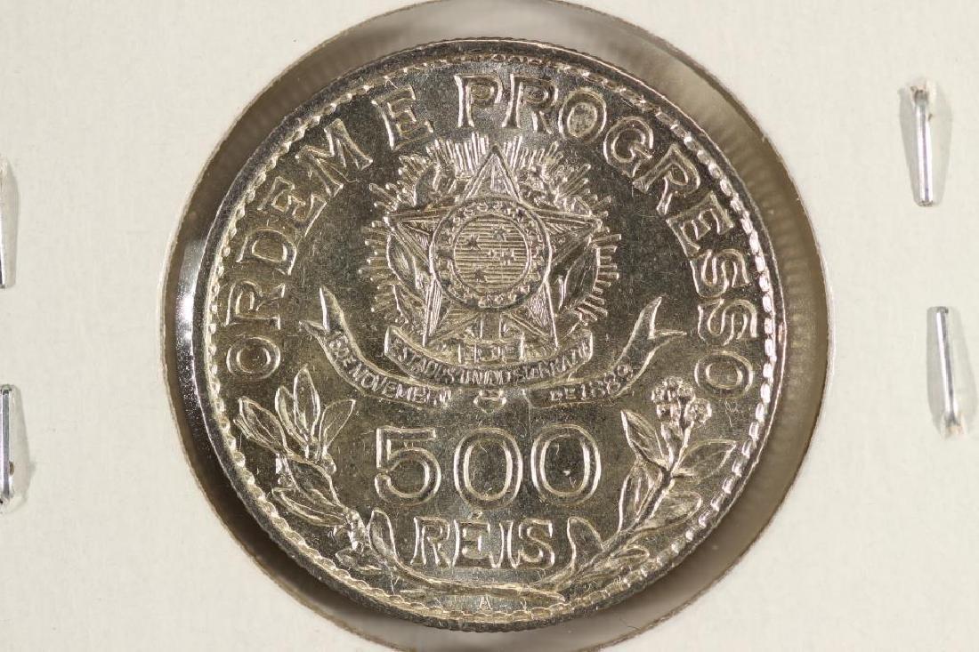 1913-A BRAZIL 500 REIS UNC - 2