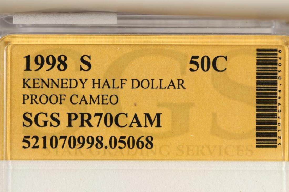 1998-S KENNEDY HALF DOLLAR PROOF CAMEO - 3