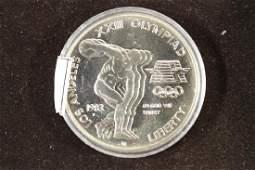 1983P US OLYMPICS UNC SILVER DOLLAR