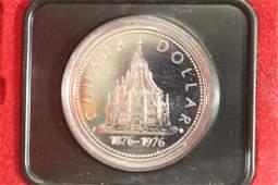 1976 CANADA PARLIAMENT LIBRARY SILVER DOLLAR PF