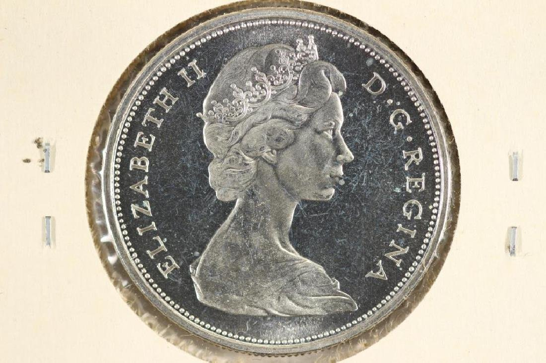 1966 CANADA SILVER 50 CENT BU - 2