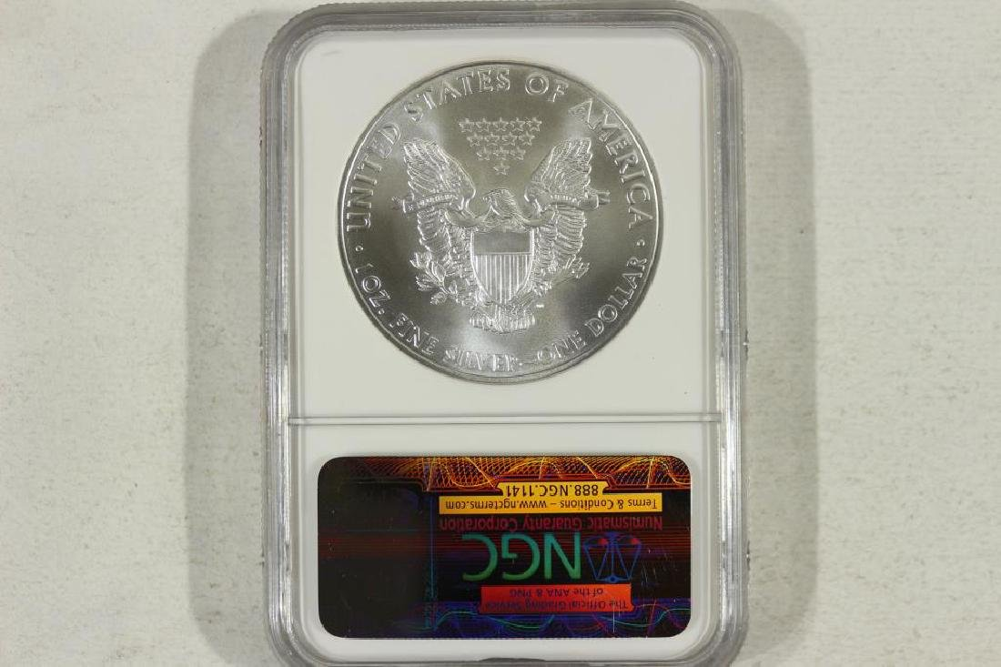 2010 AMERICAN SILVER EAGLE NGC MS69 EARLY RELEASES - 2