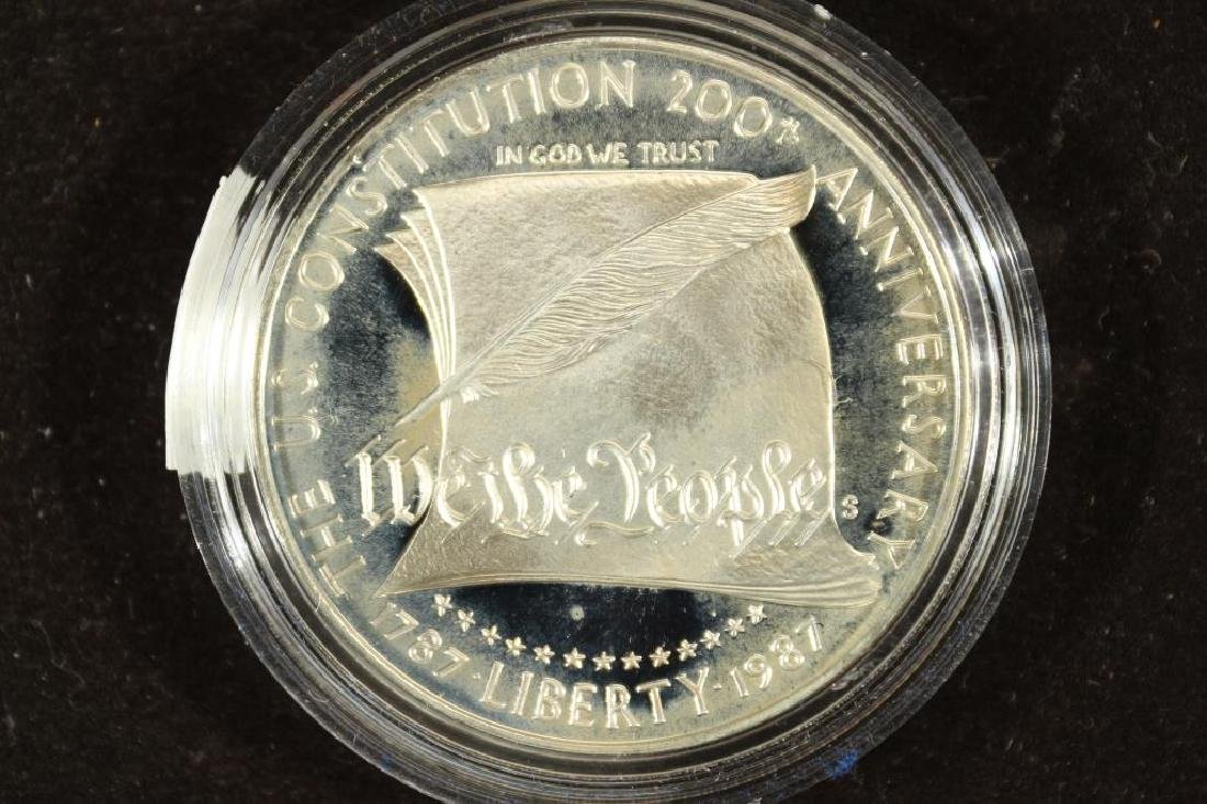 1987-S US CONSTITUTION PROOF SILVER DOLLAR