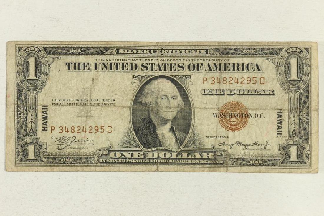 1935-A $1 SILVER CERTIFICATE HAWAIIAN OVERPRINT