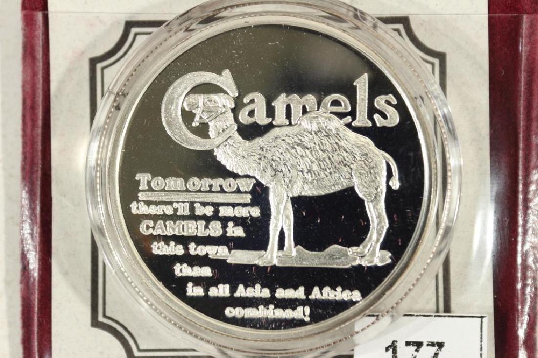 1 TROY OZ .999 FINE SILVER PROOF ROUND CAMEL - 2