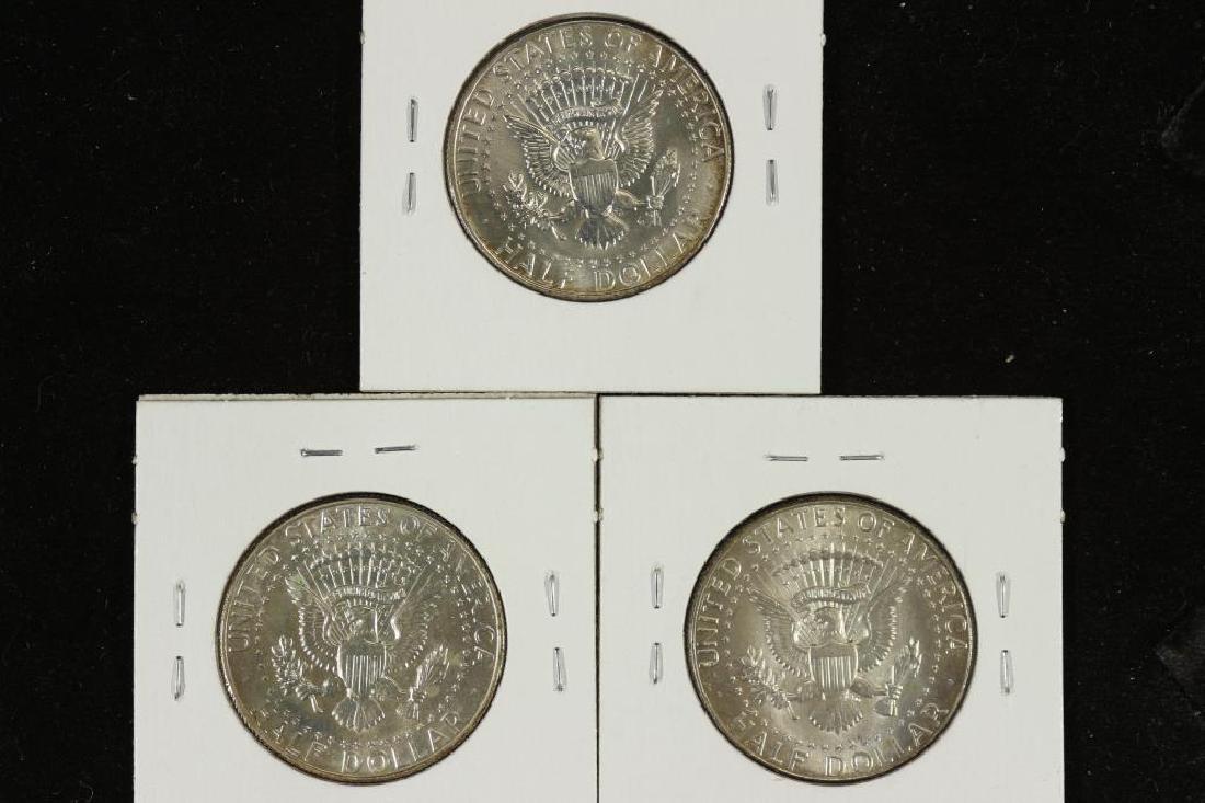 1965,66 & 69-D 40% SILVER JOHN F. KENNEDY HALVES - 2