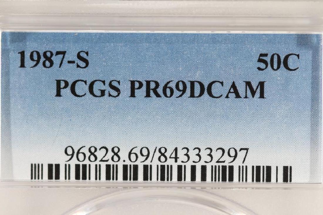 1987-S KENNEDY HALF DOLLAR PCGS PR69 DCAM - 3