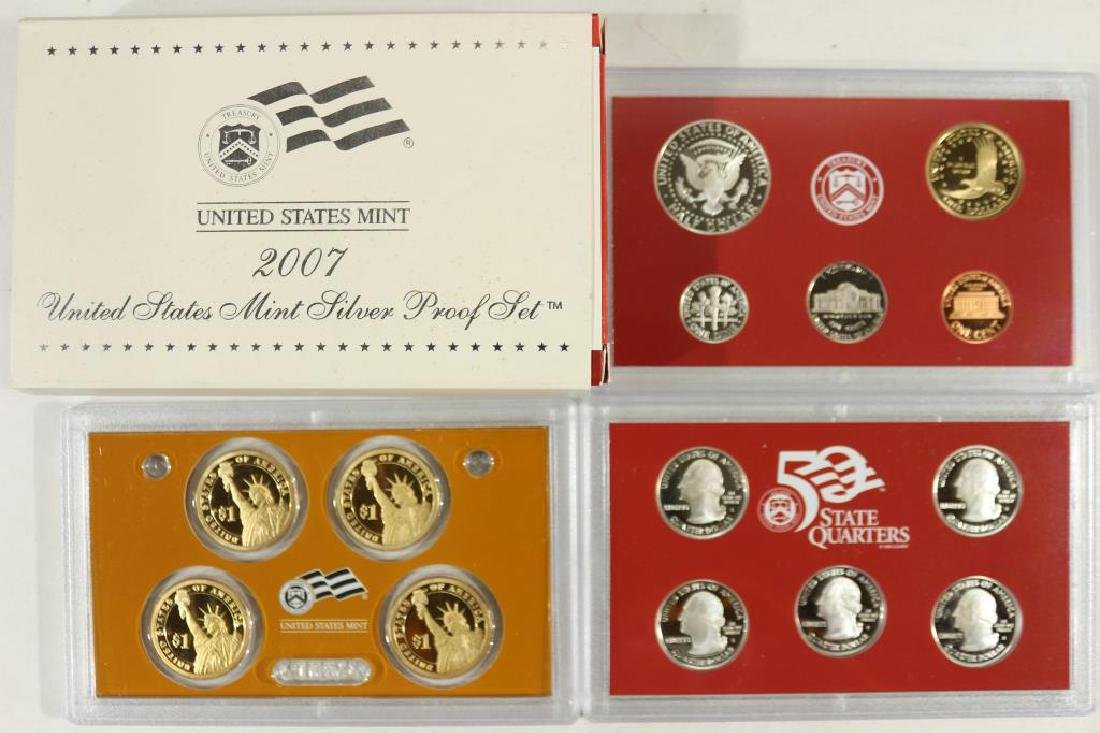 2007 US SILVER PROOF SET (WITH BOX) 14 PIECES - 2