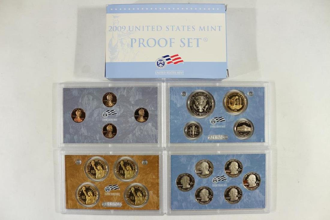 2009 US PROOF SET (WITH BOX) 18 PIECES INCLUDES - 2