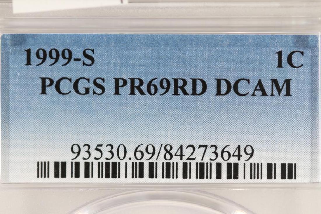 1999-S LINCOLN CENT PCGS PR69RD DCAM - 3