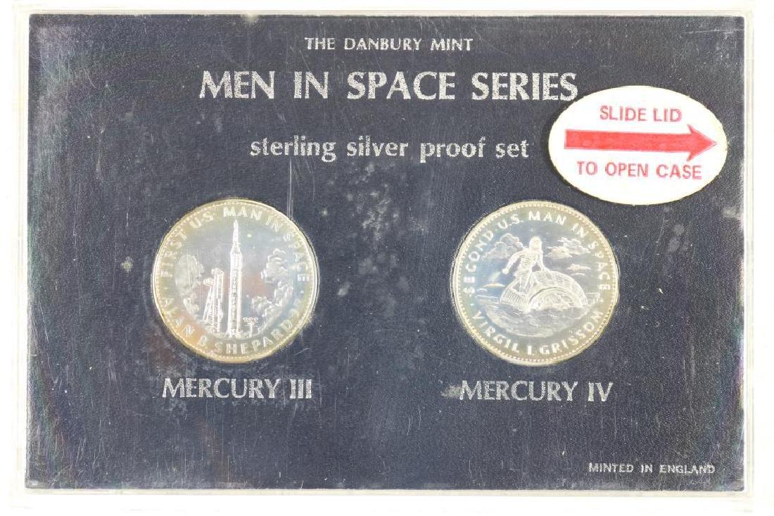 MEN IN SPACE STERLING SILVER PROOF SET MERCURY III