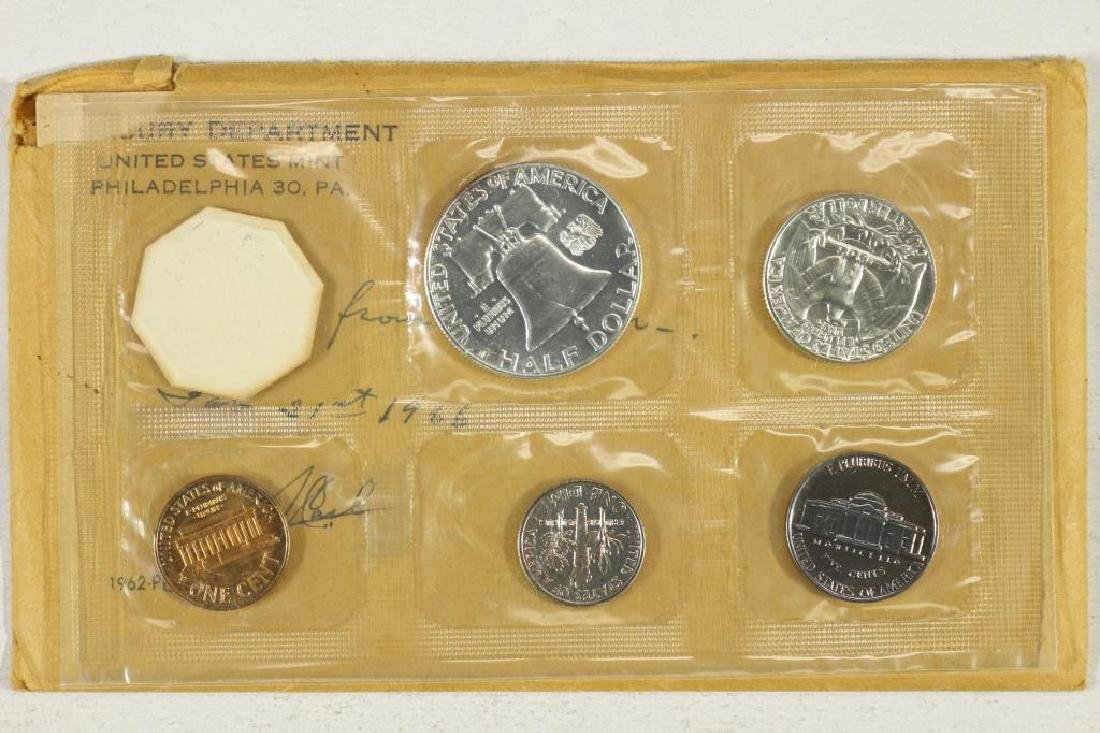 1962 US SILVER PROOF SET (WITH ENVELOPE) - 2