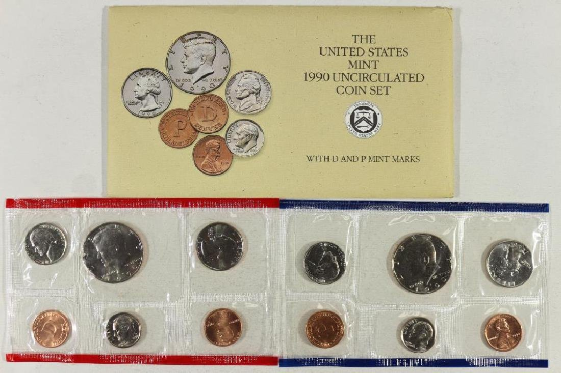 1990 US MINT SET (UNC) P/D (WITH ENVELOPE)