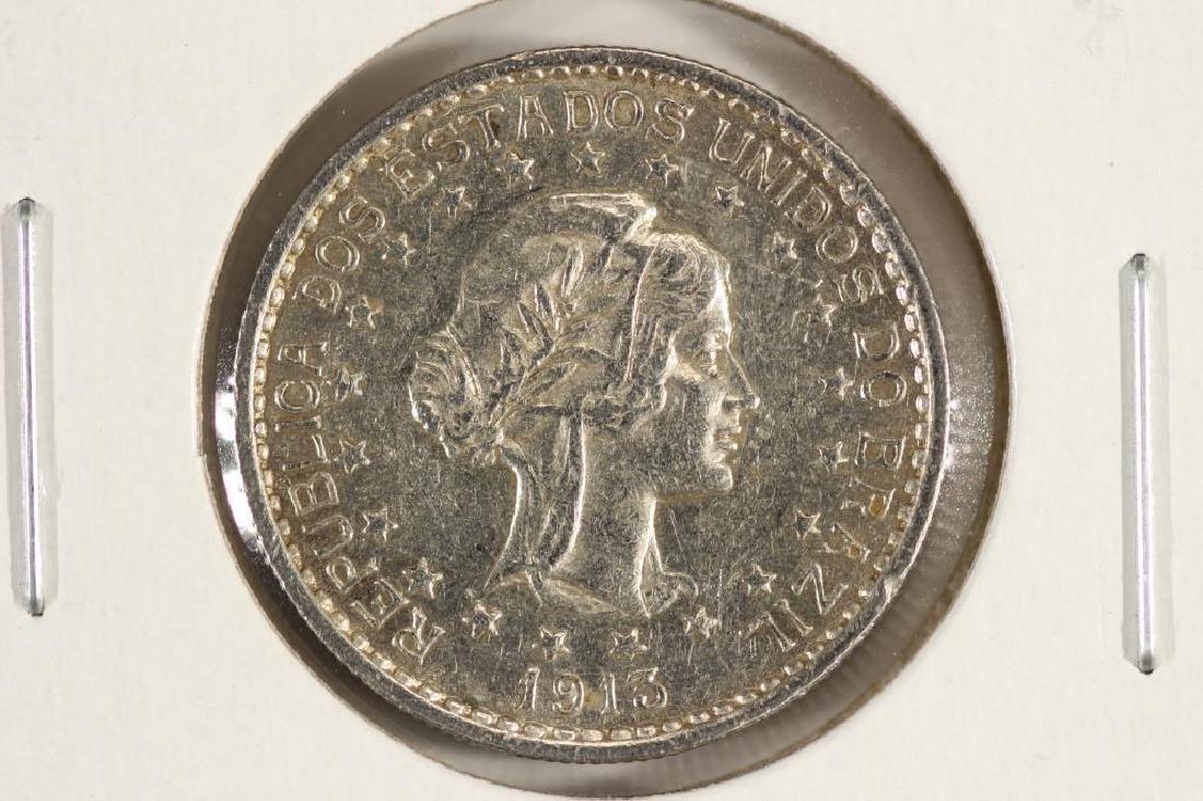 1913-A BRAZIL SILVER 500 REIS