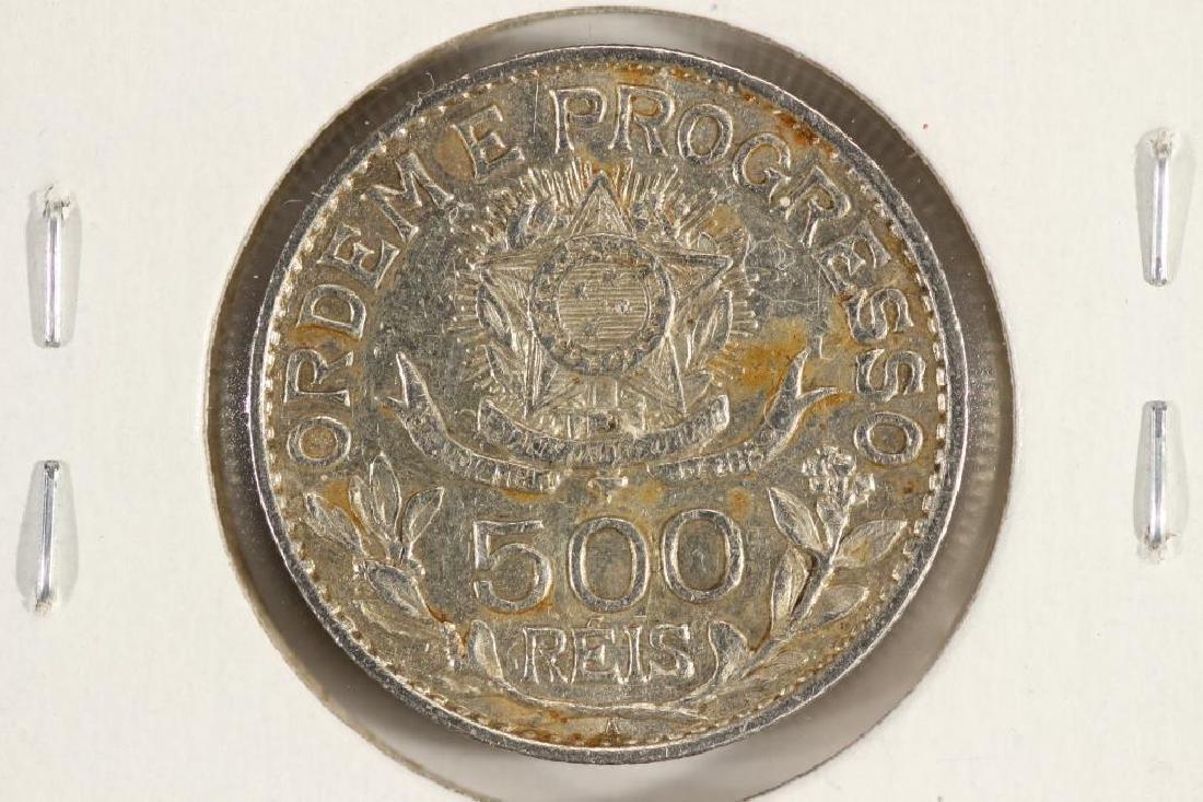 1913-A BRAZIL SILVER 500 REIS - 2