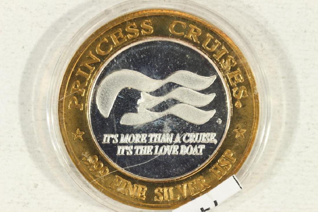 CASINO $10 SILVER TOKEN (UNC) PRINCESS CRUISES - 2