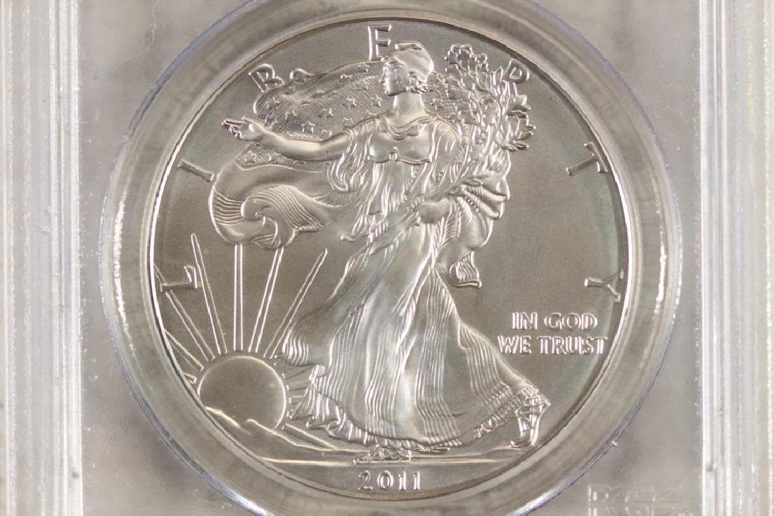 2011 (S) AMERICAN SILVER EAGLE PCGS MS70 1ST