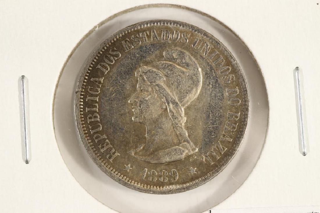 1889 BRAZIL SILVER 500 REIS