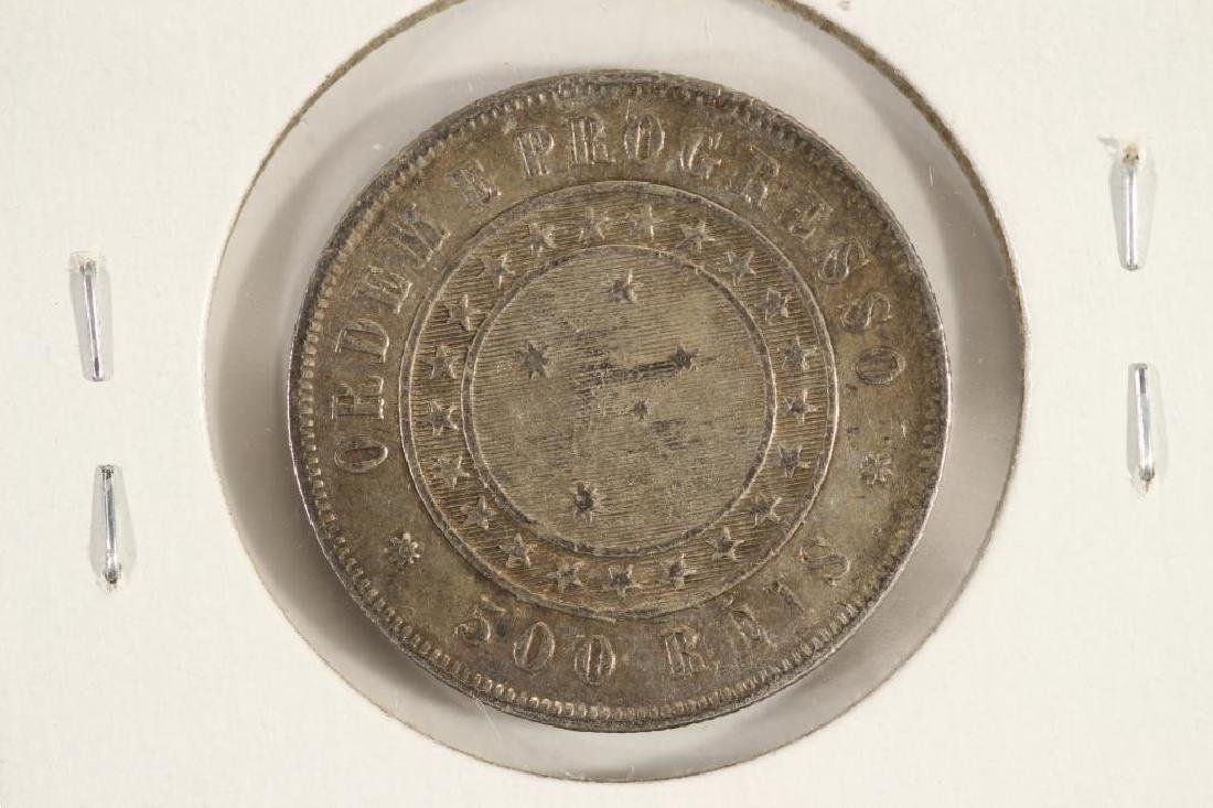 1889 BRAZIL SILVER 500 REIS - 2